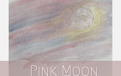 The Pink Moon, abstract art